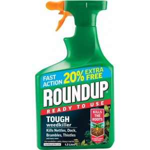 Roundup Tough Weedkiller (1L + 20% Extra Free)
