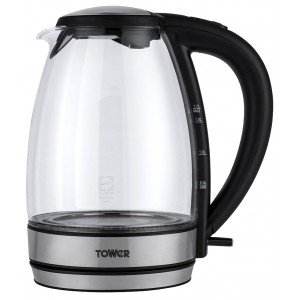 Tower Colour Changing Glass Kettle 1.7L