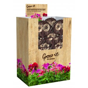 "Brown Rattan Effect Owl Planter 25cm (10"")"