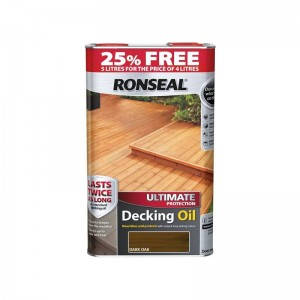 Ronseal Ultimate Protection Decking Oil 4L (+ 25% Free) Dark Oak