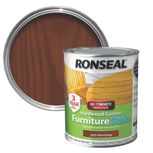 Ronseal Hardwood Furniture Stain 750ml Deep Mahogany