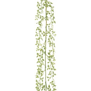 Christmas Glitter Leaf Garland 1.5m (5FT) Sage Green