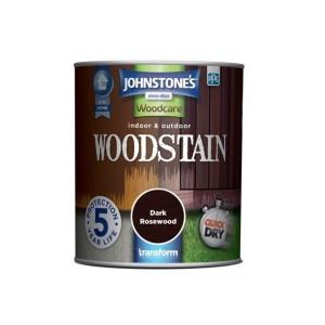 Johnstones Indoor & Outdoor Wood Stain 750ml Dark Rosewood