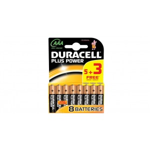 Duracell Plus Power AAA (8 Pack)