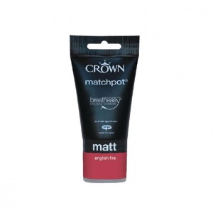 Crown Emulsion Paint Tester Pot 40ml English Fire (Matt)