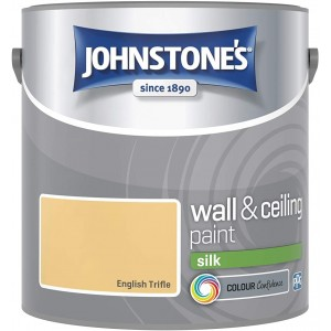 Johnstones Vinyl Emulsion Paint 2.5L English Trifle Silk