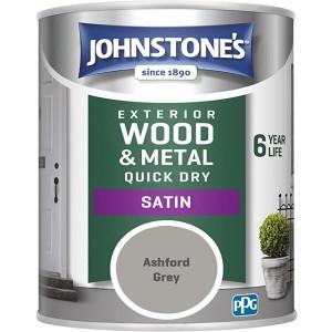 Johnstones Exterior Satin Paint 750ml Ashford Grey