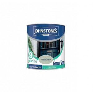 Johnstones Exterior Satin Paint 750ml Natural Sage