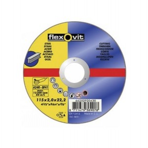 Flexovit Steel Cutting Off Wheel 115mm x 2.5mm x 22.2mm