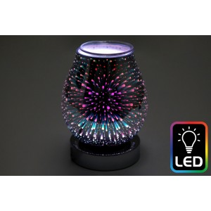 Galaxy LED Oil Burner - Silver