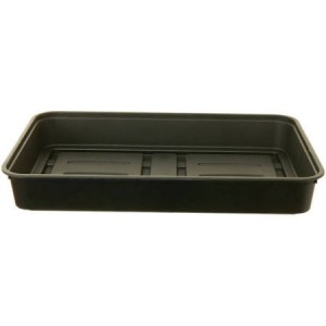 Whitefurze Strong Plastic Greenhouse Gravel Tray 38cm Black