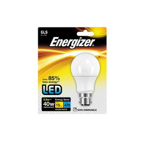 Energizer 5.6W BC Warm White LED GLS Bulb