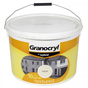 Leyland Granocryl Textured Masonry Paint 10L Magnolia
