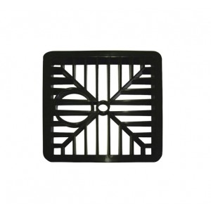 Select Gully Grid Square Black 6""