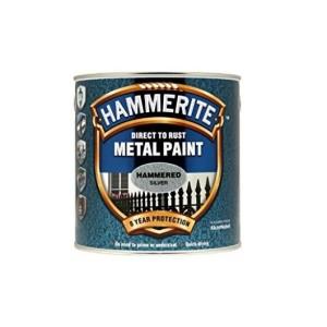 Hammerite Metal Paint 250ml Hammered Silver