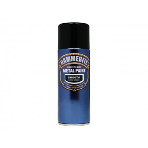 Hammerite Metal Spray Paint 400ml Smooth Dark Green