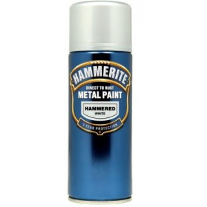 Hammerite Metal Spray Paint 400ml Hammered White