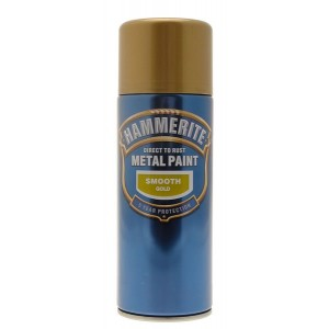 Hammerite Metal Spray Paint 400ml Smooth Gold