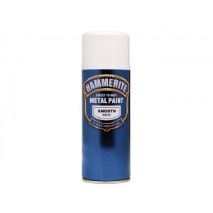 Hammerite Metal Spray Paint 400ml Smooth White