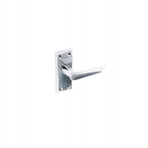 Securit S2706 115mm Flat Latch Handles Chrome (2 Pack)