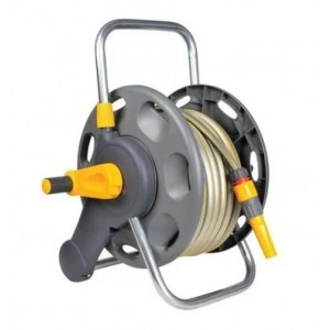 Hozelock 60m 2 in 1 Hose Reel with 50m Hose 2477