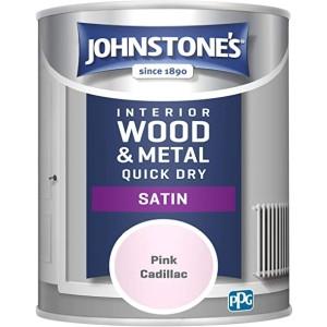 Johnstones One Coat Satin Paint 750ml Pink Cadillac