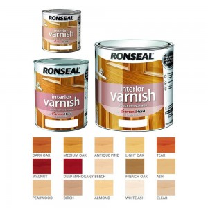 Ronseal Interior Varnish Quick Dry Satin 250ml Deep Mahogany
