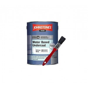 Johnstones Trade Aqua Water Based Undercoat 1L Brilliant White