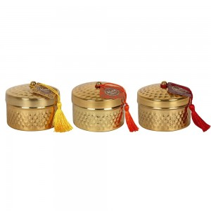 Assorted Candle Pot With Tassel