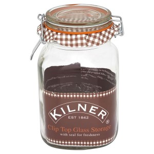 Kilner Square Clip Storage Jar 1.5L