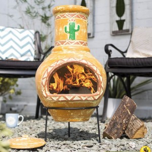 La Hacienda Cardon Clay Chiminea