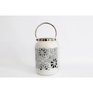 Cream Flower Design Lantern