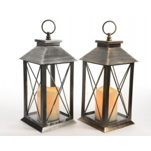 Kaemingk LED Lantern With Timer 34cm