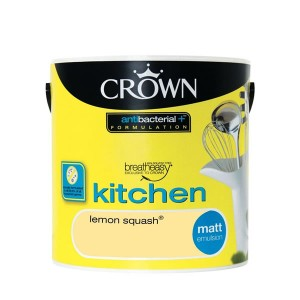 Crown Kitchen Paint 2.5L Lemon Squash (Matt)