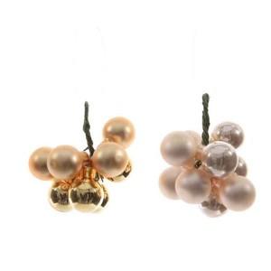 Kaemingk Bauble Bundles On A Wire Light Gold/Pearl