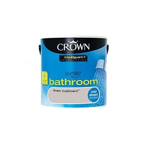 Crown Bathroom Paint 2.5L Linen Cupboard (Mid-sheen)
