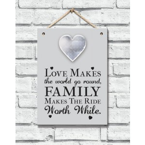 Home Collection Metal Heart Plaque