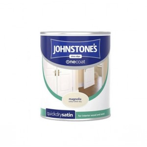 Johnstones One Coat Satin Paint 750ml Magnolia