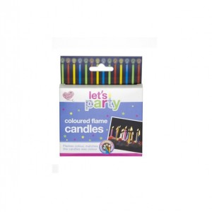 Queen of Cakes Coloured Flame Candles (10 Pack)