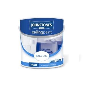 Johnstones Ceiling Paint 2.5L Brilliant White Matt