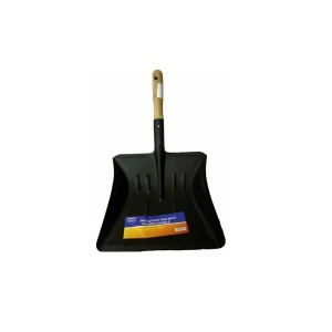 Smart Tools Metal Dust Pan With Wooden Handle