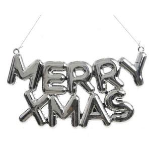 Kaemingk Merry Xmas Hanger Silver