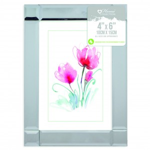 "Picture Frame (4"" x 6\"") Mirrored"