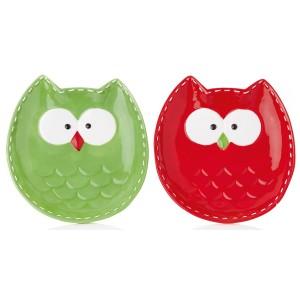 Christmas Owl Plate 18cm Assorted
