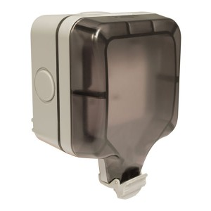 Lyvia 1 Gang Outdoor Switched Socket