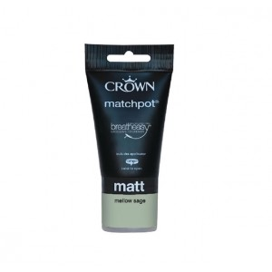 Crown Emulsion Paint Tester Pot 40ml Mellow Sage (Matt)