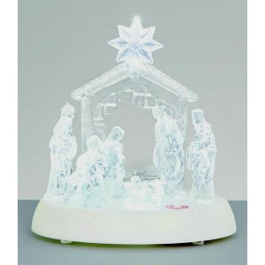 Premier LED Nativity With Music 20cm