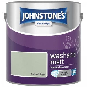 Johnstones Washable Emulsion Paint 2.5L Natural Sage Matt