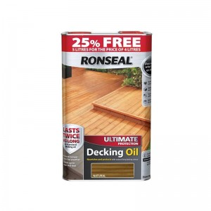 Ronseal Ultimate Protection Decking Oil 4L (+ 25% Free) Natural