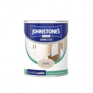 Johnstones One Coat Satin Paint 750ml Oatcake